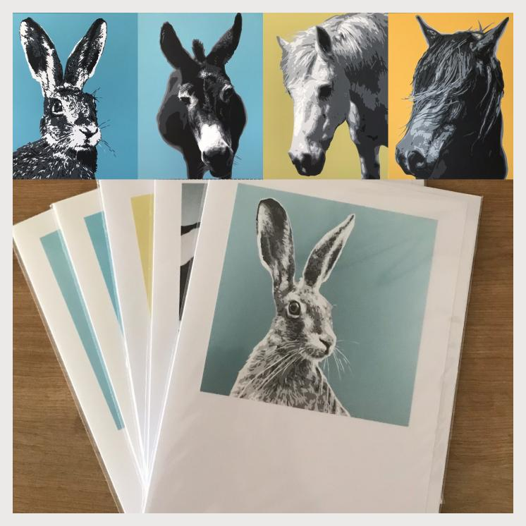 Greetings cards x5